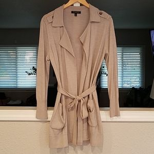 Banana Republic Belted Long Cardigan Petite Large